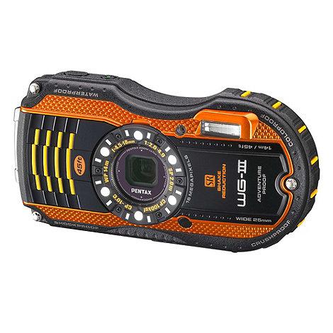 Pentax - Orange Optio WG-3 16MP 4x optical zoom digital camera