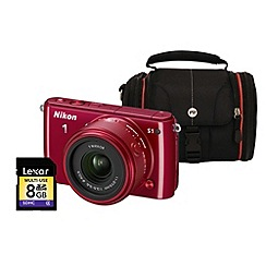 Nikon - Red 1 S1 Compact System Camera and Lens Kit