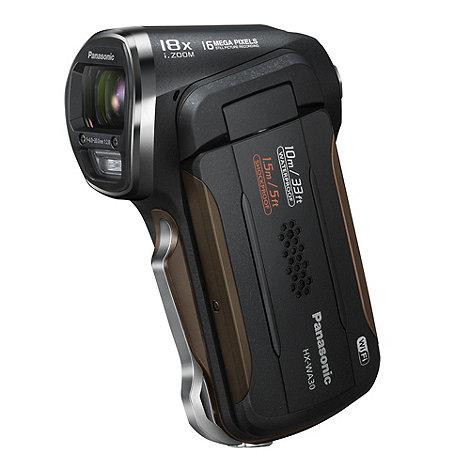Panasonic - Black HX-WA30 Uright camcorder, 1080p FHD, 5X zoom, 2.6 LCD, waterproof to 10M, WI-FI