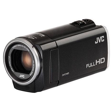 JVC - Black GZ-E105 SD camcorder, 1080P FHD, 40X zoom, 2.7 LCD
