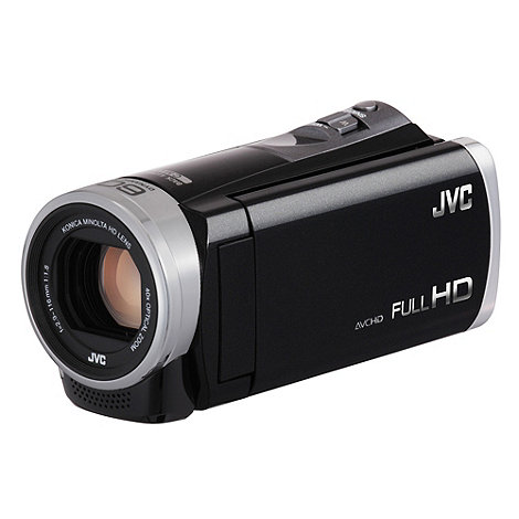 JVC - Black GZ-E305 SD camcorder, 1080P FHD, 40X zoom, 3.0 inch touch LCD