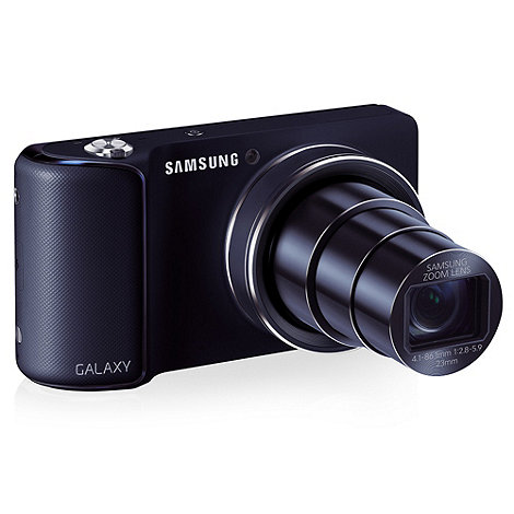 Samsung - Black Galaxy GC-110 compact camera, 16MP, WiFi, 4.8 inch touch LCD, 1080p, 23mm wide lens