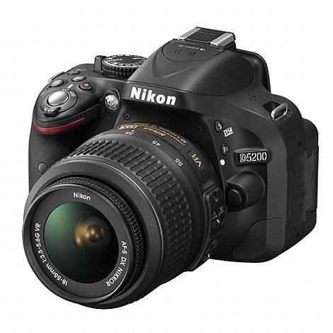 Nikon - D5200 DSLR camera with 18-55mm VR lens, 24MP, 3.0 inch LCD and 1080p