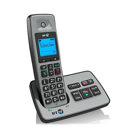 BT - Black 2500 single DECT telephone with answering machine
