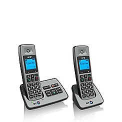 BT - Black 2500 twin DECT telephone with answering machine