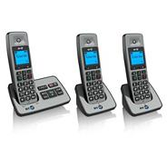 BT Black Triple Handset Telephones 2500