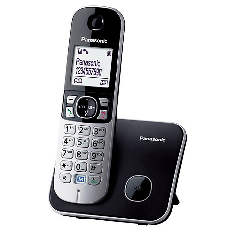 Panasonic - Grey Single Handset Telephone KX-TG6811
