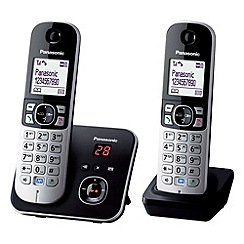 Panasonic - Grey Twin Handset Telephone KX-TG6822