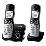 Panasonic Grey Twin Handset Telephone KX-TG6822
