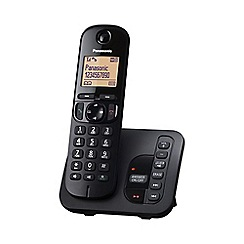 Panasonic - KX-TGC220EB single black dect & nuisance call blocker telephone