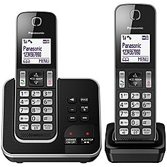 Panasonic - kx-tgd322eb twin dect phone