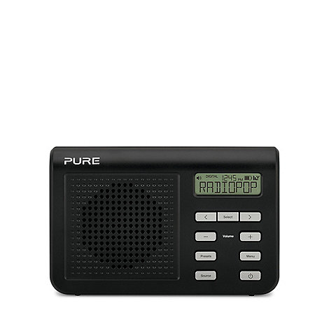 Pure - Black One Mi series II DAB digital radio