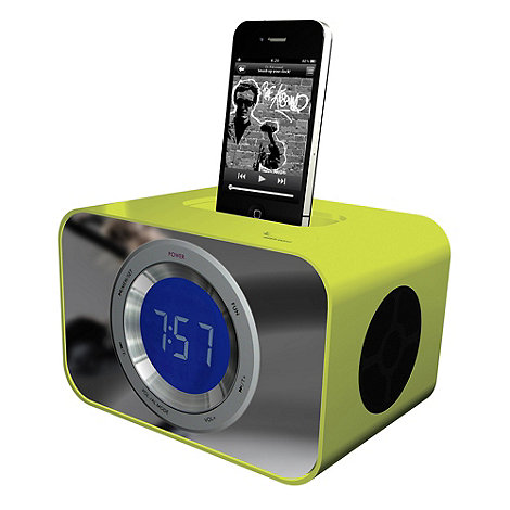 KitSound - Lime green +CLOCKDLG+ iPod and iPhone dock