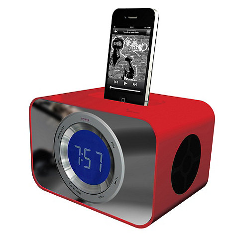 KitSound - Red +CLOCKDRD+ iPod and iPhone dock