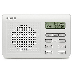 Pure - White 'One Mi Series 2' DAB digital radio