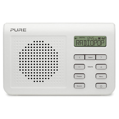 Pure - White +One Mi Series 2+ DAB digital radio