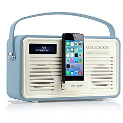 Viewquest - Blue retro DAB lightning dock radio