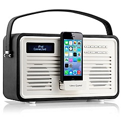 Viewquest - Black retro DAB lightning dock radio