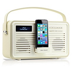 Viewquest - Cream retro DAB lightning dock radio