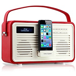 Viewquest - Red retro DAB lightning dock radio