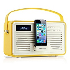 Viewquest - Mustard retro View Quest DAB lightning dock radio