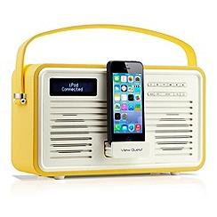 Viewquest - Mustard retro DAB lightning dock radio