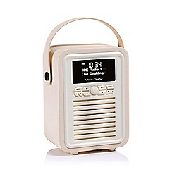 Viewquest - Cream Retro VQ-MINI-CR mini DAB radio