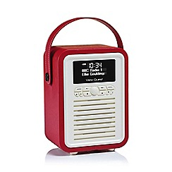 Viewquest - Red Retro VQ-MINI-RD mini DAB radio