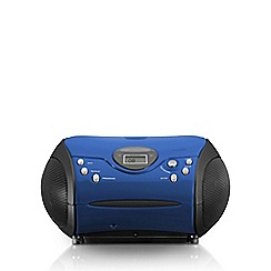 Lenco - Blue SCD-24B Portable Radio CD Player