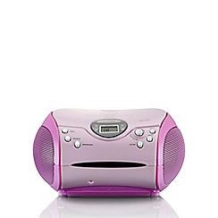 Lenco - Pink SCD-24P Portable Radio CD Player