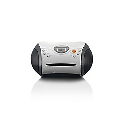Lenco - White SCD-24W Portable Radio CD Player