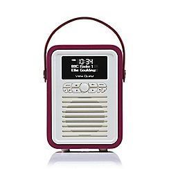 Viewquest - Retro mini dab portable radio in deep purple