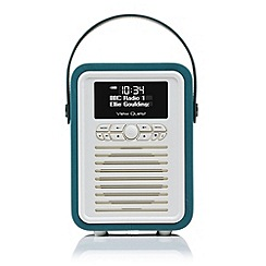 Viewquest - Retro mini dab portable radio in teal