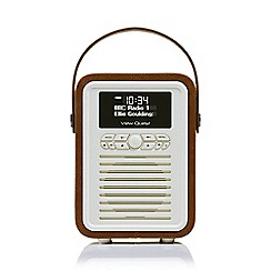 Viewquest - Retro mini dab portable radio in brown