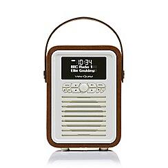 Viewquest - Retro mini dab portable radio in brown
