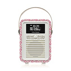 Viewquest - Retro mini dab portable radio emma bridgewater sampler design