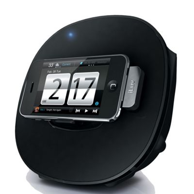 Black IMM190 multimedia dock alarm clock