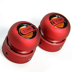 X-Mini - Red x-mini max duo portable speaker
