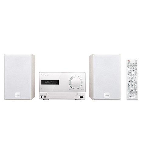 Pioneer - White X-CM21DAB-W DAB hi-fi system