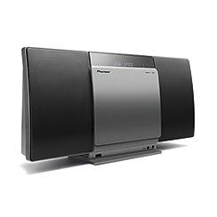 Pioneer - Silver slim CD hi-fi system X-SMC01BT-S