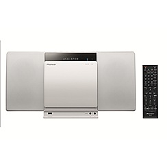 Pioneer - White slim cd Micro SD Hi-Fi system
