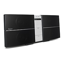 Pioneer - Black slim CD hi-fi system X-SM22-S