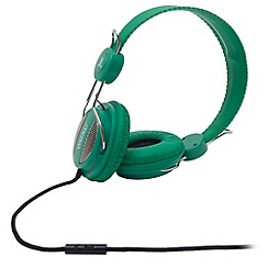 WESC - Green 'Oboe Street' on-ear headphones