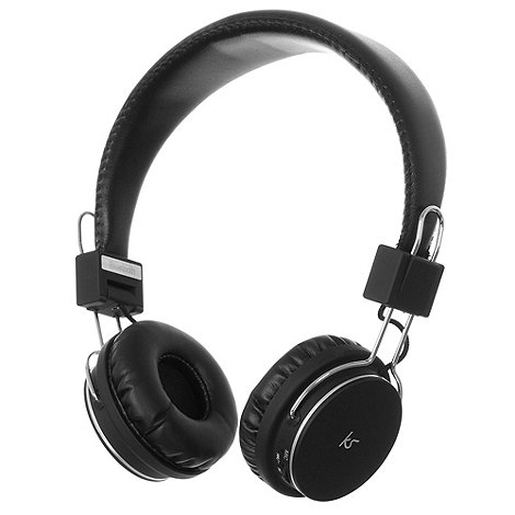KitSound - Black +Manhattan+ bluetooth stereo headphones