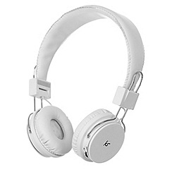 KitSound - White 'Manhattan' bluetooth stereo headphones
