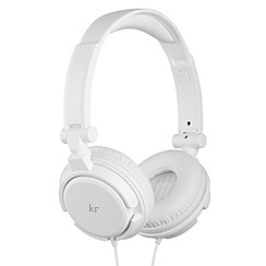 KitSound - ID white on-ear headphones with mic and multifunction button