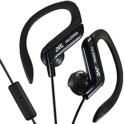 JVC - Sports HA-EBR80-B-E black clip headphones with mic and remote