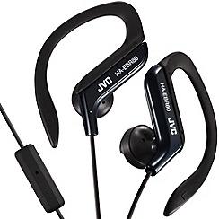 JVC - Sports HA-EBR80-B-E black clip headphones with mic and remote