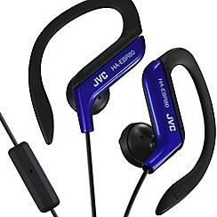 JVC - Sports HA-EBR80-A-E blue clip headphones with mix and remote