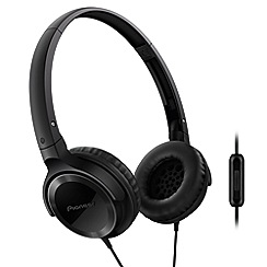 Pioneer - Black SE-MJ502T-K overhead headphones with in line mic